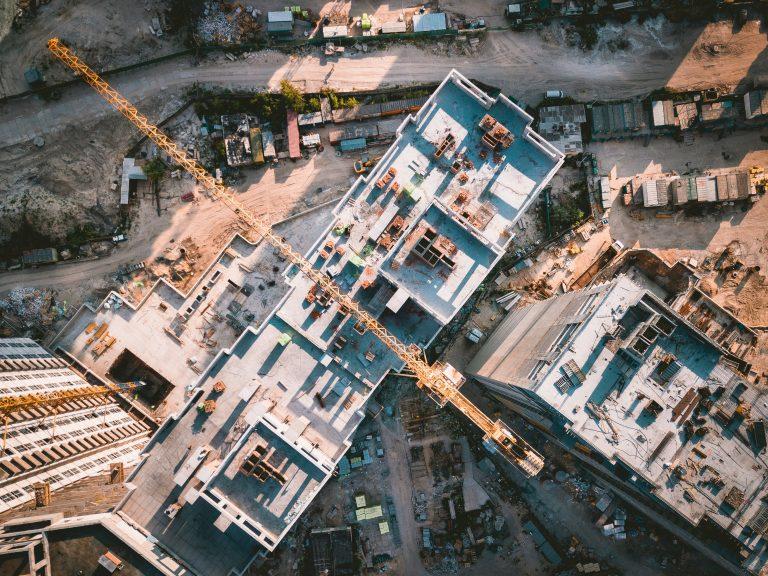 Építkezés felülnézetből
